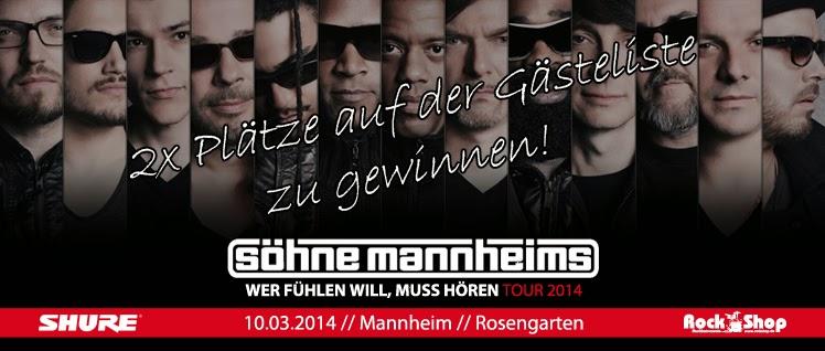 Söhne Mannheims Ticket Gewinnspiel Rock Shop Karlsruhe