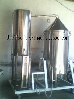 Mesin Alat Destilasi Sistem Kukus