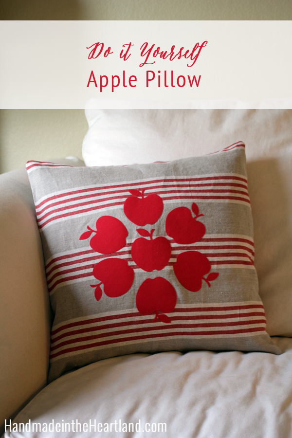 DIY Apple Envelope Throw Pillow