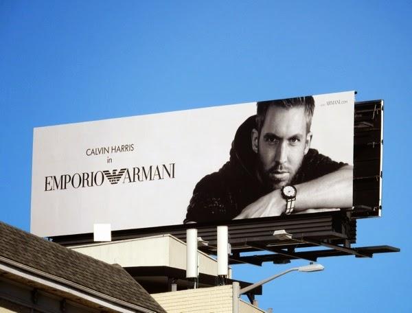 Calvin Harris Emporio Armani billboard