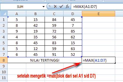 mencari nilai angka maxmimum