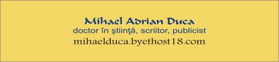 Mihael Adrian Duca, doctor in stiinta, scriitor