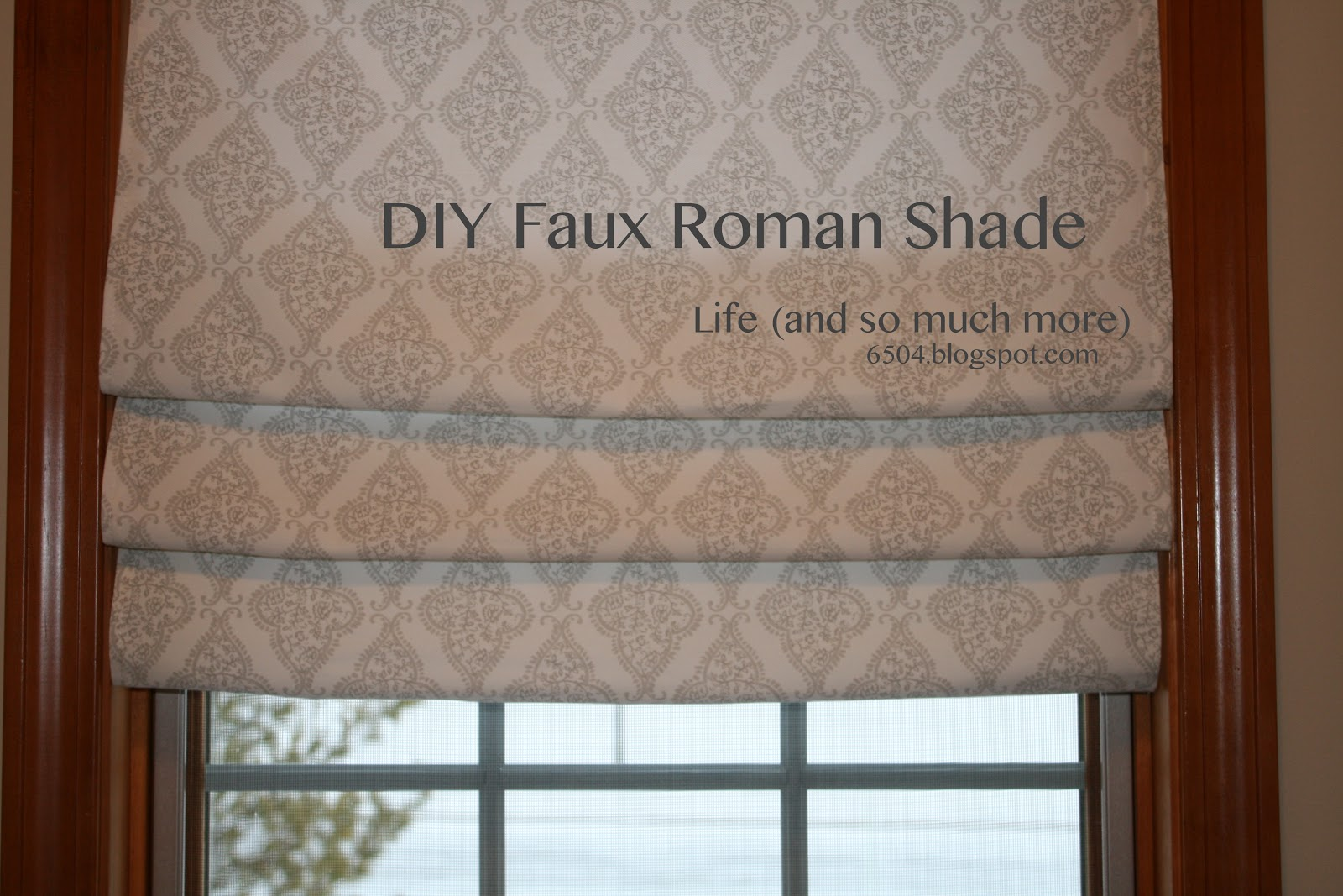 Life And So Much More Diy Faux Roman Shade