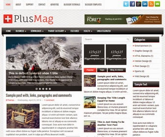 PlusMag Responsive Blogger Template