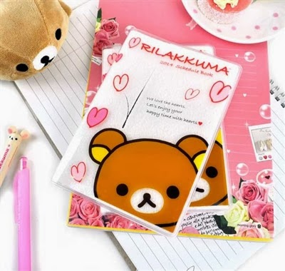 rilakkuma and hearts theme school supplies at CoolPencilCase.com