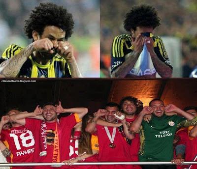 Champion Galatasaray Footballers Teasing Cristian Baroni