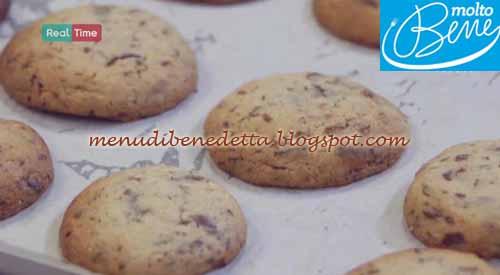 Chocolate chip cookies ricetta Parodi per Molto Bene su Real Time