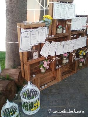 listas mesas boda caja