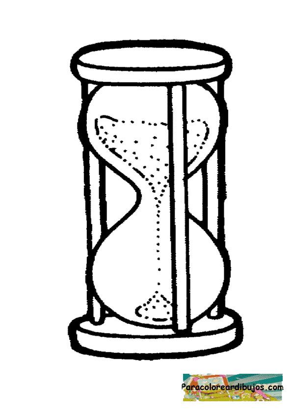 Reloj de arena para colorear