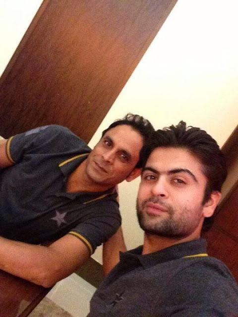 Pakistani Cricket Team in London Gatwick Airport - Ahmed Shahzad And Abdul Rehman