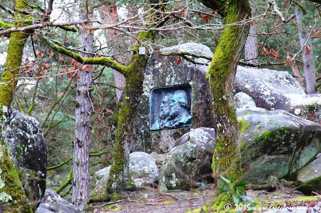 Monument Millet Rousseau, Forêt de Fontainebleau, Gorges d'Apremont Barbizon, (C) 2015 Greg Clouzeau
