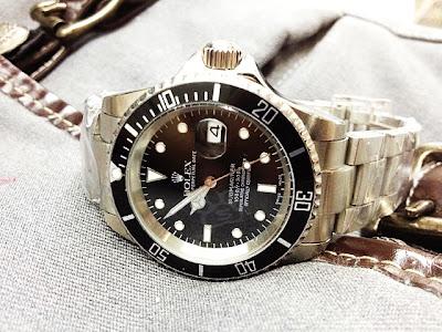 Jam tangan rolex | submarine | pria | rantai | stainless steel | automatic | otomatis