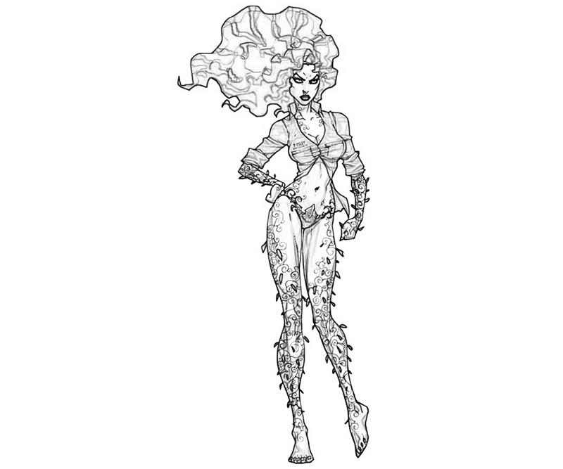 Printable Batman Arkham City Poison Ivy Face Coloring Pages