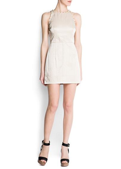 krem rengi sırt dekolteli elbise