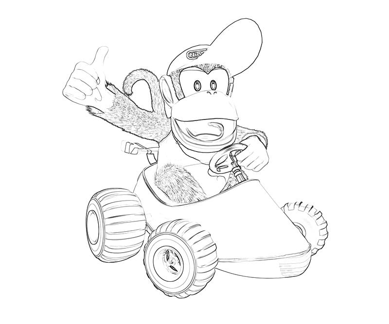 Donkey Kong Country Coloring Pages Coloring Pages Diddy Kong Coloring Pages