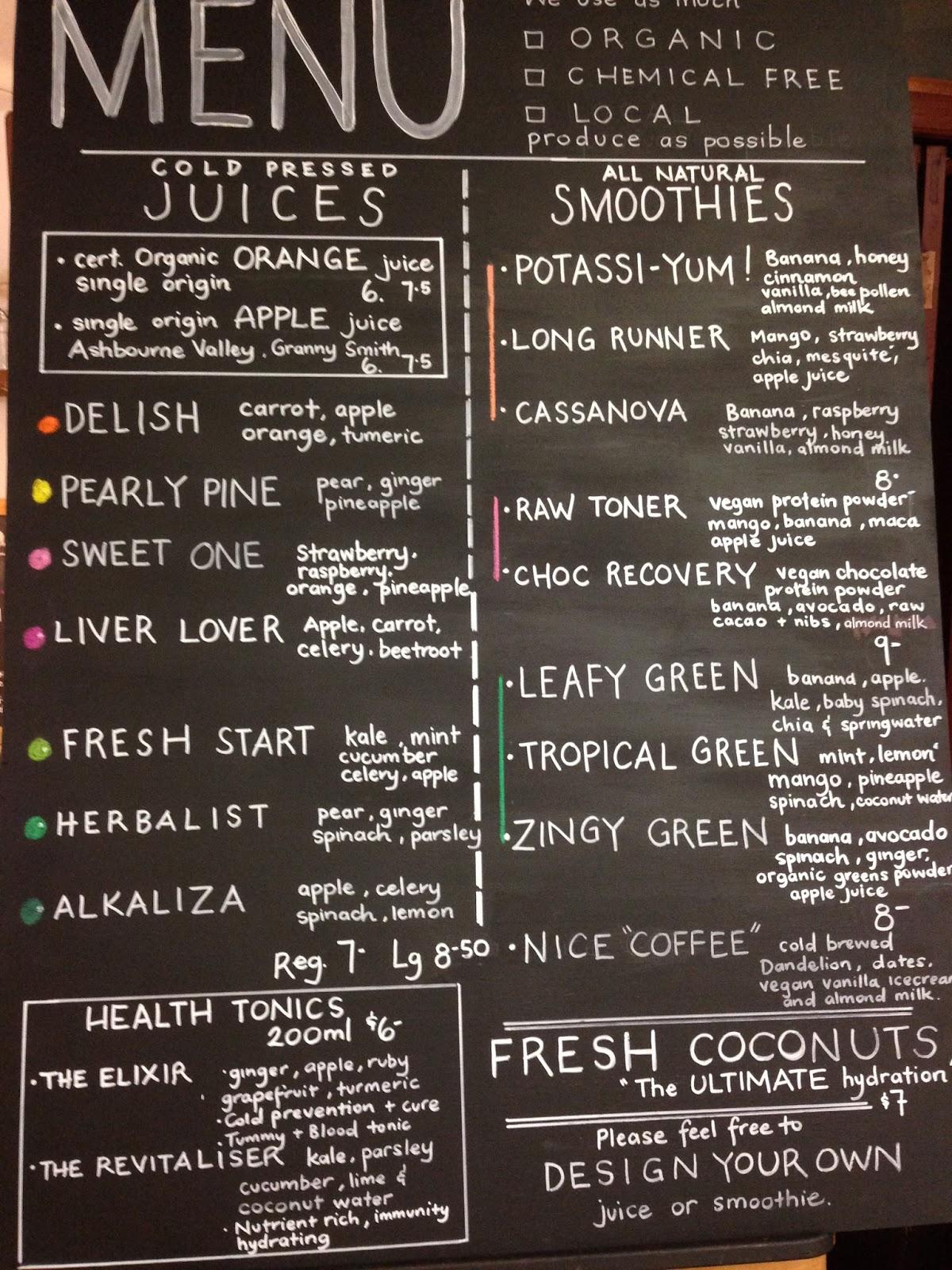 juice lovers juicery, regent arcade, adelaide, cbd, juice, vegetarian, vegan, organic, clean eating, menu
