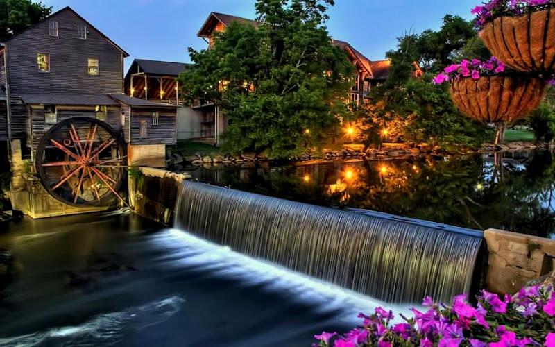 Bella cascadas de agua