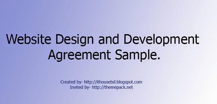 Website Design And Development Agreement Themepacknet
