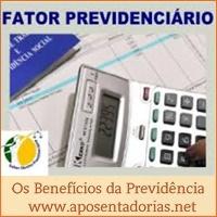 O que é fator previdenciário e em quais benefícios é aplicado.