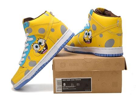 ... Nike Spongebob Squarepants   Spongebob Nikes; SpongeBob Custom Nike  Dunk High Yellow ...