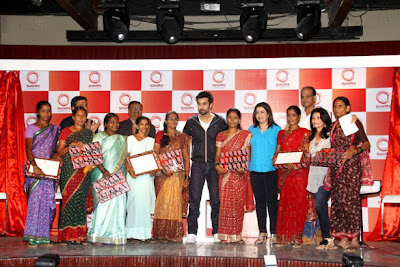 Ranbir Kapoor and Farah khan at Launch of Swades Foundation's new logo