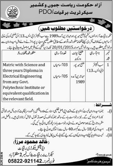 Govt Of Pakistan Azad Jammu and Kashmir Jobs