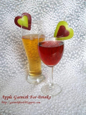 how to make apple garnish