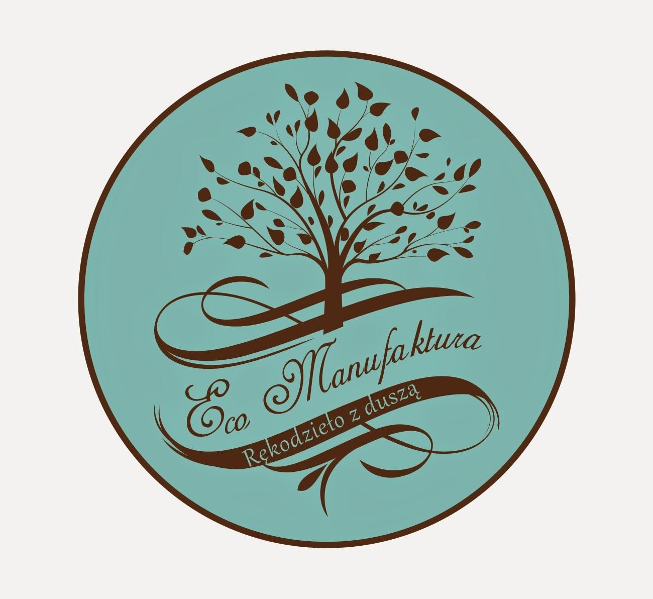 logotyp Eco Manufaktura - nowa identyfikacja graficzna pracowni rękodzieła i decoupage.