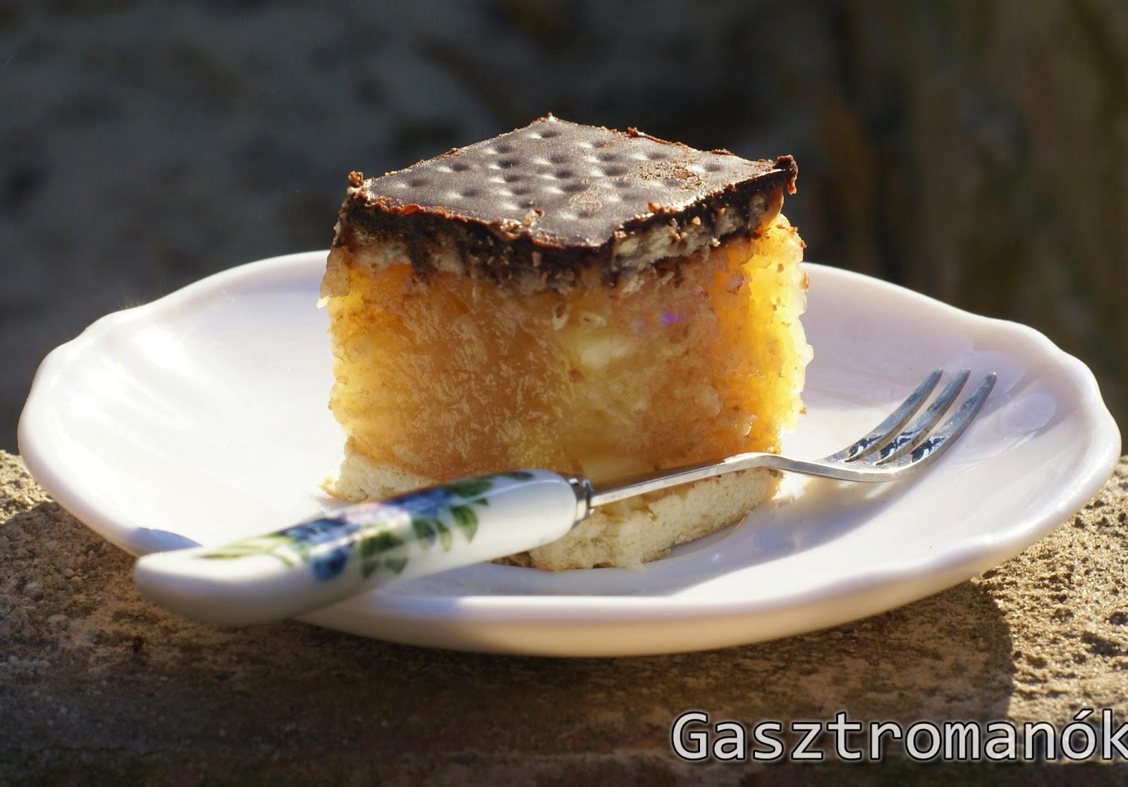 almás csokis kekszes szelet