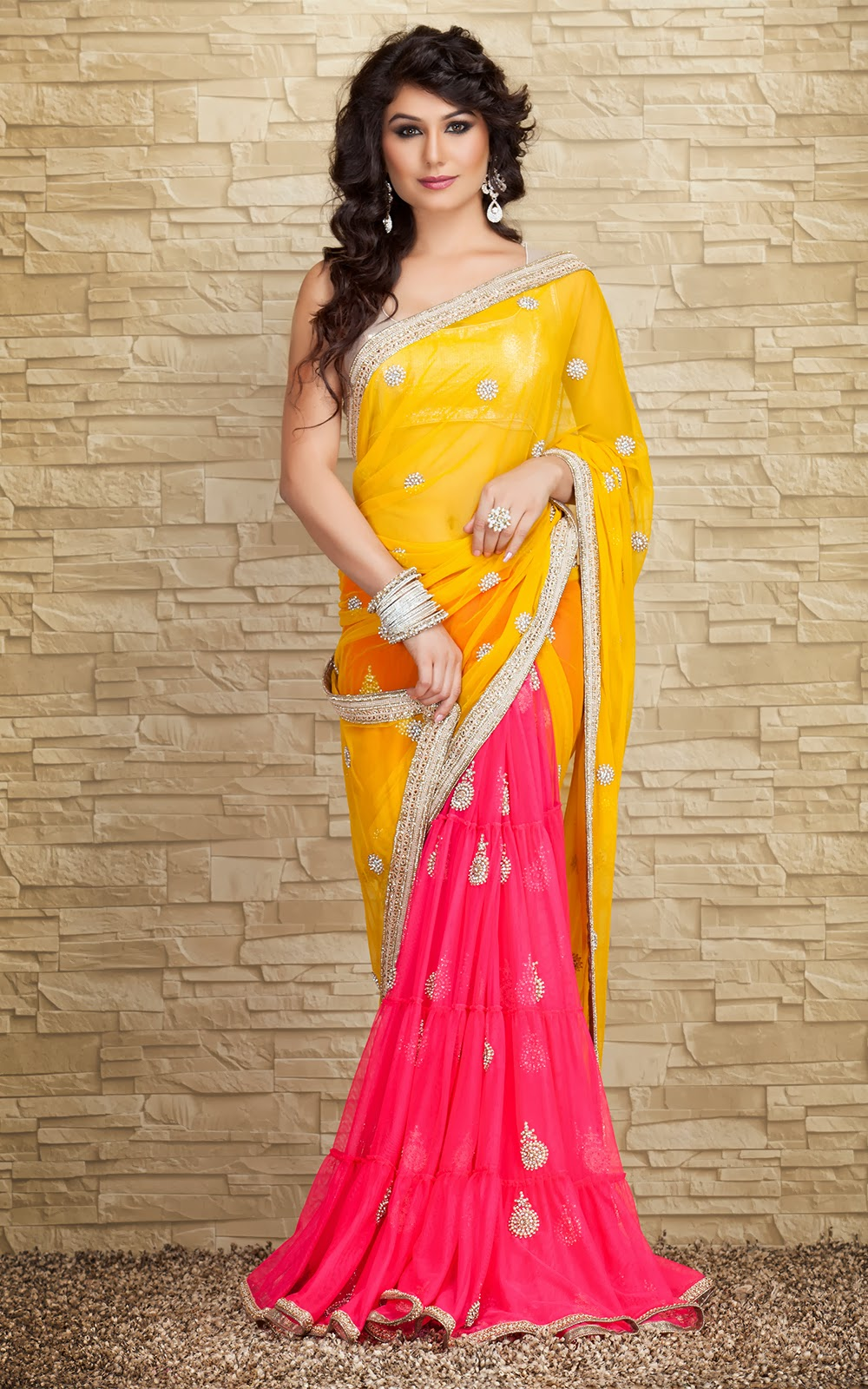 sarees A sari, saree, or shari is a female garment from the indian subcontinent that consists of a drape varying from five to nine yards (45 metres to 8 metres) in length and two to four feet (60 cm to 120 m) in breadth that is typically wrapped around the waist, with one end draped over the shoulder, baring the midriff there are various styles sari manufacture and draping, the most common being.