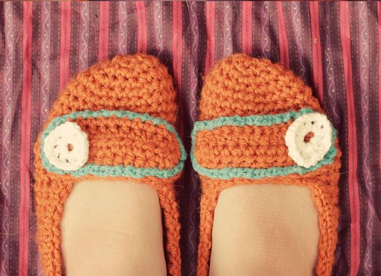 free crochet patterns for beginners slippers Slippers
