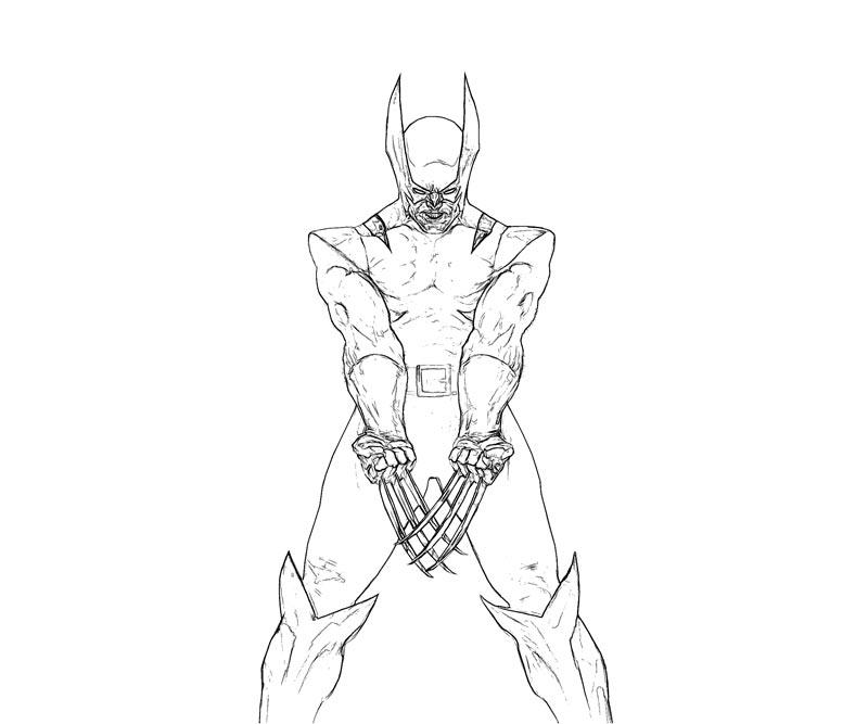 #7 Wolverine Coloring Page
