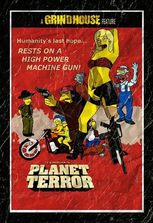 posters cinema simpsons - Planet Terror