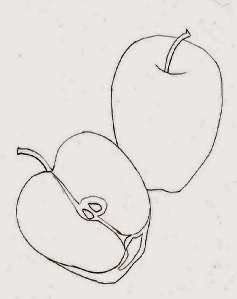 Belajar mewarnai gambar buah apel untuk anak gratis