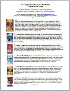 Free Checklist of Books in Order