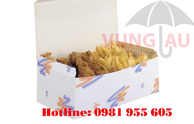 In hộp giấy đựng thức ăn nhanh ở Vũng Tàu