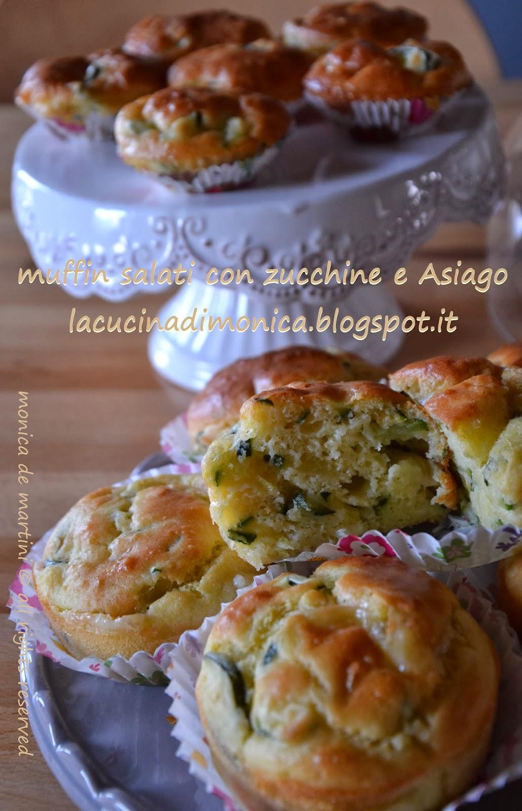 muffin salati con zucchine e asiago