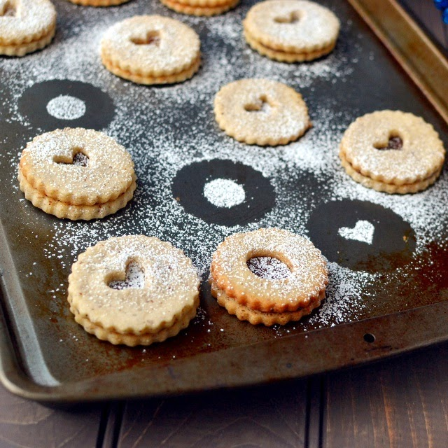Linzer Cookies (Eggless Recipe)