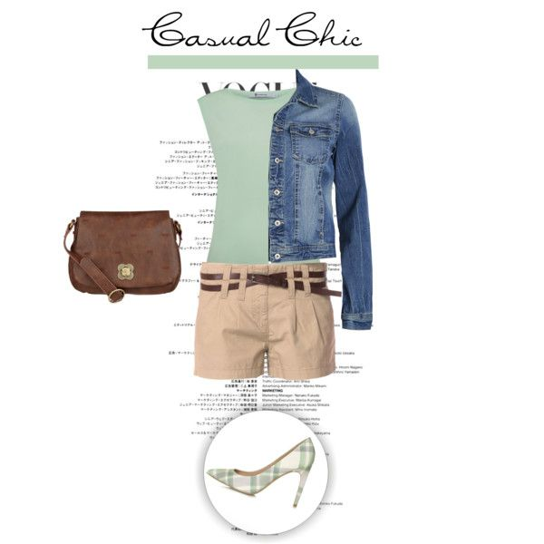 Casual chic look in mint, shorts and denim jacket. Visit www.forarealwoman.com