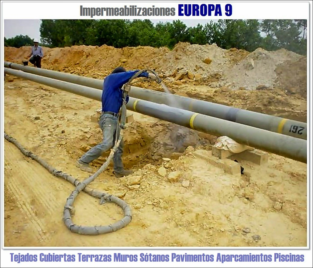 Europa 9 tuber as dep sitos suelos pavimentos for Pintura impermeabilizante terrazas transitables