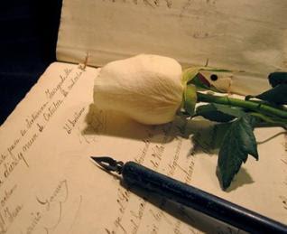 rosa para un escritor