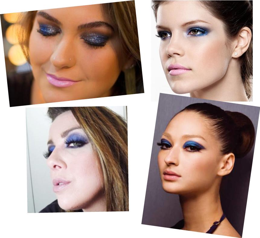 Maquiagem para usar com vestido azul claro