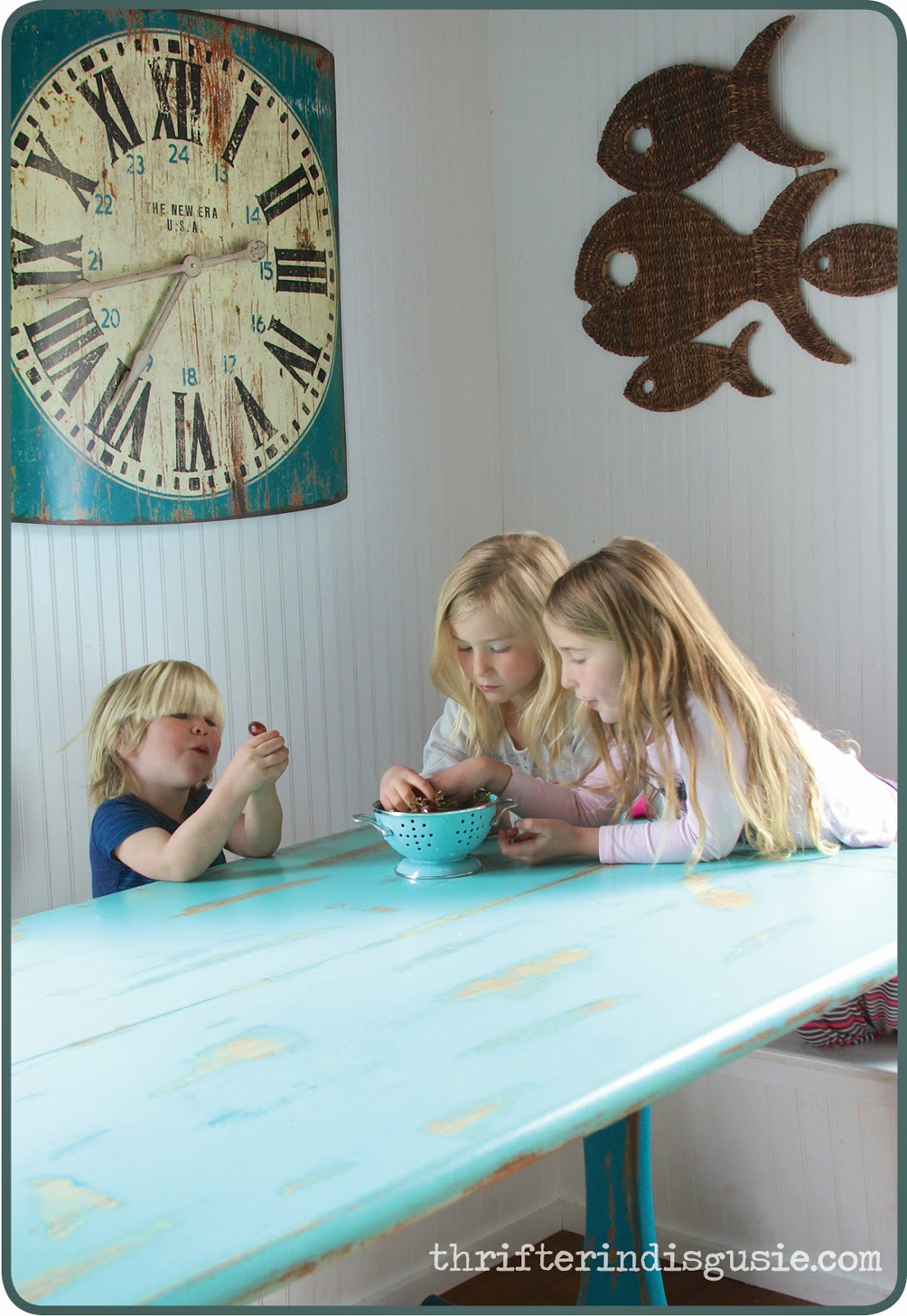 Cool colors for kitchen table