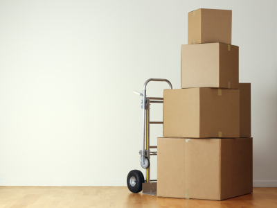 Moving packed boxes