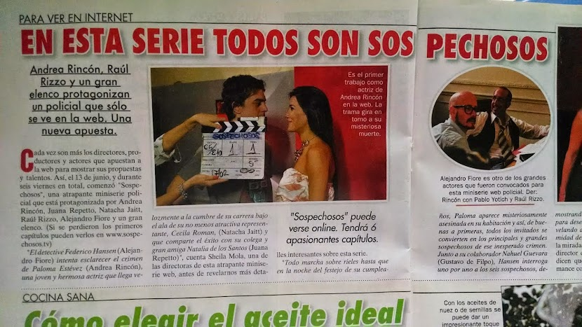 Nota de la revista Semanario a la serie SOSPECHOSOS