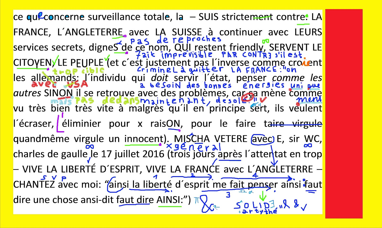 mischa vetere s´oppose strictement contre la surveillance totale en FRANCE, SUISSE , ANGLETERRE