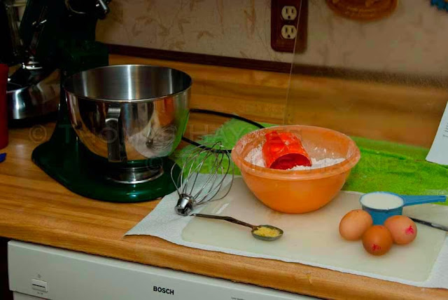 Fresh eggs, ginger root and other ingredients of holiday gingerbread cake