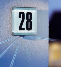 Husnummerskilt med lys
