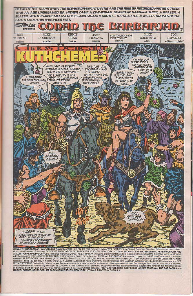 Conan the Barbarian (1970) Issue #250 #262 - English 2