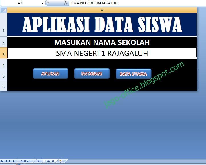 Aplikasi Membuat Database Siswa DI Excel | Arminaven Gayo